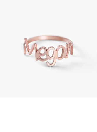 Personalized Couples' Chic 925 Sterling Silver Name Rings For Friends/For Couple