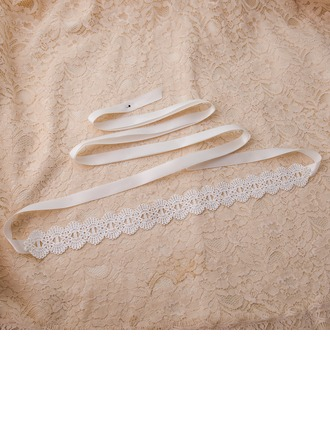 Beautiful Satin Sash With Lace