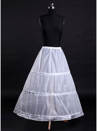 Women Tulle Netting/Satin Tea-length 1 Tier  Bustle