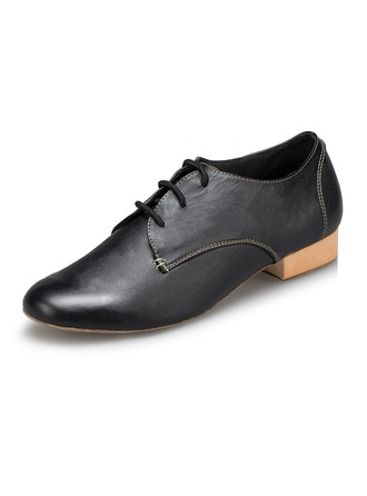 Men's Leatherette Flats Latin Modern Ballroom Party With Lace-up Dance Shoes