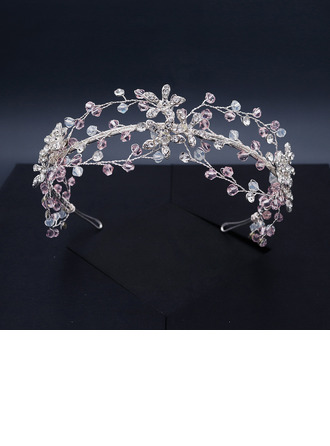 Ladies Beautiful Crystal/Rhinestone/Alloy Tiaras With Rhinestone/Crystal (Sold in single piece)