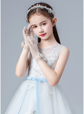 Alloy/Imitation Pearls/Crystal Wrist Length Glove