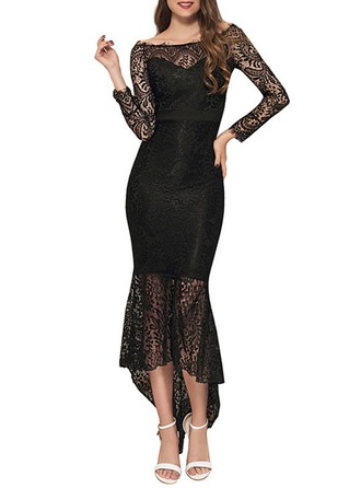Lace With Lace/Stitching Maxi Dress