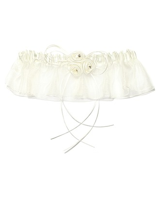 Glamourous Organza With Flower Wedding Garter Skirt