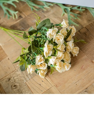"11.81""(Approx.30cm) Rose Silk Plastic Bouquets"