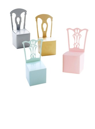 12pcs Chair Favor Box and Place Card Holder