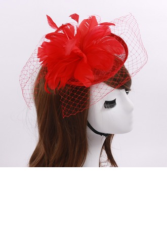 Dames Mode Batiste/Feather/Fil net avec Tulle Chapeaux de type fascinator