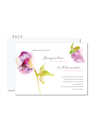 Modern Style/Rustic Style Flat Card Invitation Cards