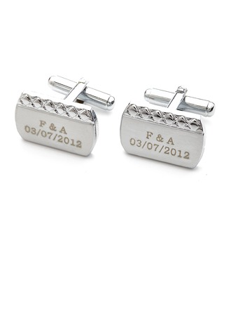 Personalized Alloy Cufflinks (Set of 2)