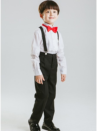 Boys 4 Pieces Formal Ring Bearer Suits /Page Boy Suits With Shirt Pants Bow Tie Suspender