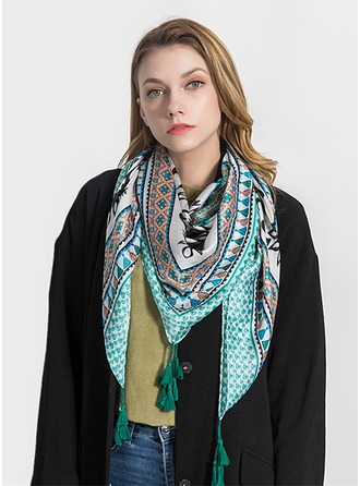 Retro/Vintage Light Weight/Oversized Silk Square scarf