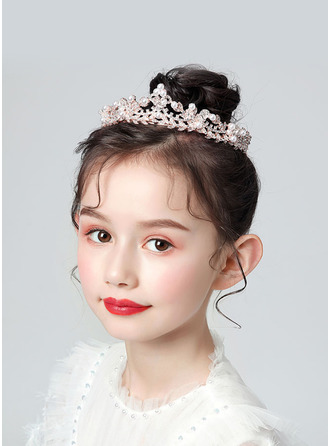 Flower Girl Alloy Tiaras With Rhinestones