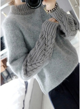 Cable-knit Mohair Turtleneck Sweater Kazak