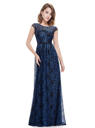 Polyester/Lace/Satin With Print Maxi Dress