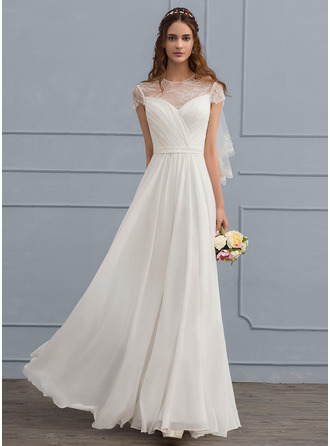 Floor-Length Chiffon Wedding Dress