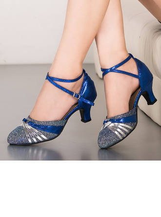 Women's Sparkling Glitter Latin Ballroom Dance Shoes