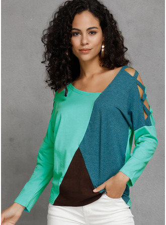 manches 3/4 Polyester Col V Tricot Blouses
