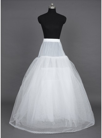 Women Nylon/Tulle Netting Floor-length 6 Tiers Petticoats