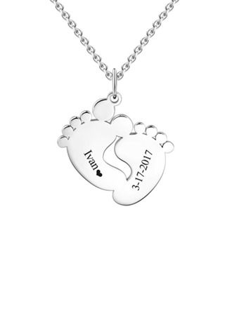 Personalized Child's Lovely 925 Sterling Silver Name/Engraved/Bar Necklaces For Mother/For Friends