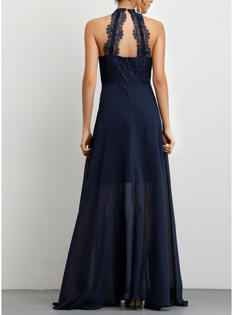 Polyester With Lace/Hollow/Solid Maxi Dress
