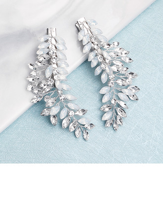 Ladies Fashion Rhinestone/Alloy Hairpins With Rhinestone (Set of 2)