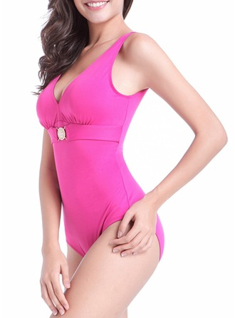 Sexy Solid Color One-piece