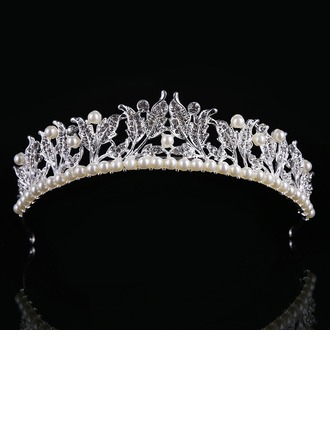 Ladies Elegant Alloy/Imitation Pearls Tiaras