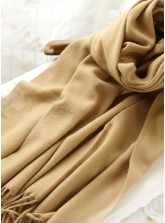 Solid Color Oversized/fashion Acrylic/Artificial Wool Scarf