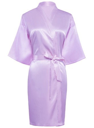 Personalized Charmeuse Bride Bridesmaid Mom Glitter Print Robes