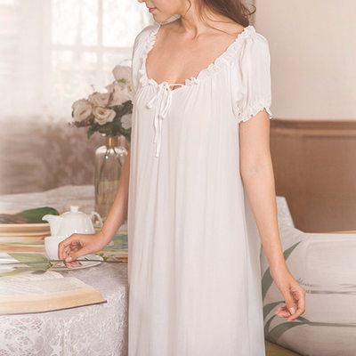 Bridal/Feminine Girly Cotton/Spandex Sleepwear