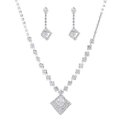 Ladies' Hottest Rhinestones With Round Jewelry Sets