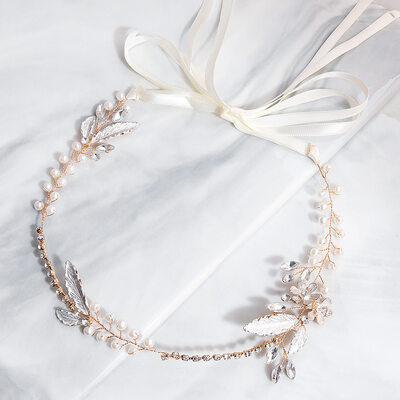Ladies Beautiful Alloy/PVE Headbands With Rhinestone/Venetian Pearl