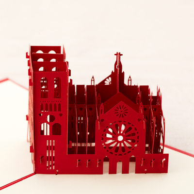 Three-dimensional The Hunchback of Notre Dame Greeting Cards