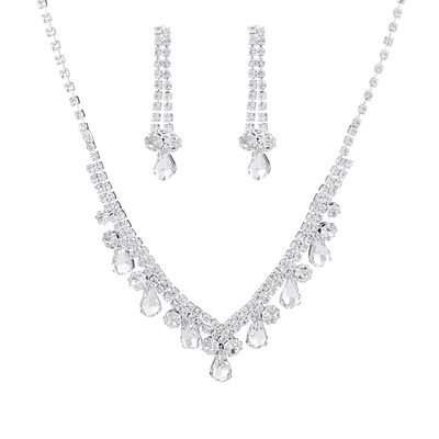 Ladies' Hottest Rhinestones With Pear Jewelry Sets