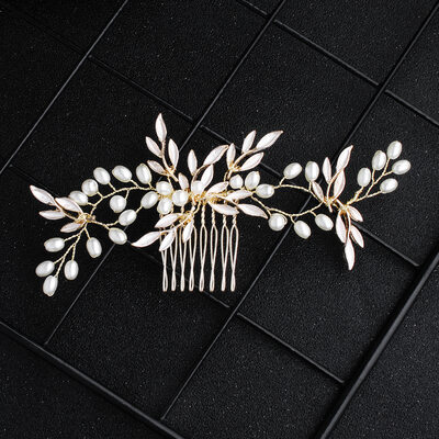 Ladies Alloy/Imitation Pearls Combs & Barrettes (Sold in single piece)