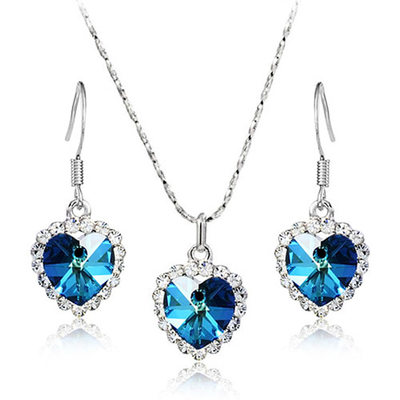 Unique Alloy/Crystal Jewelry Sets