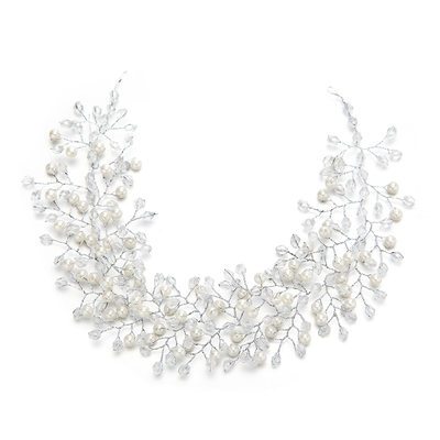 Ladies Fashion Crystal/Imitation Pearls Headbands With Venetian Pearl/Crystal (Sold in single piece)