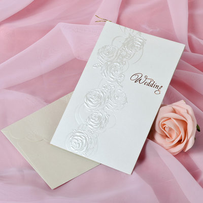 Blumen-Stil Side Fold Invitation Cards