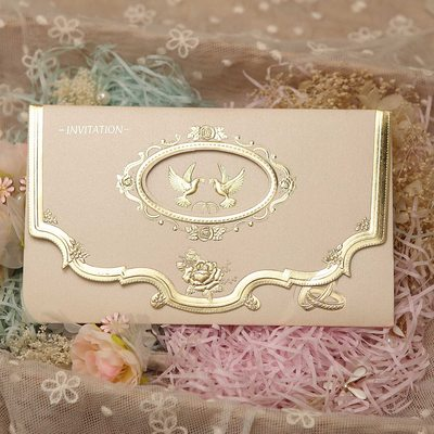 Wedding invitations as low as 082 per piece jjshouse classic style tri fold invitation cards stopboris Image collections