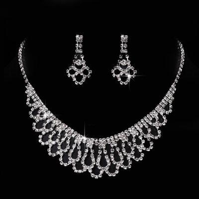 Gorgeous Copper With Rhinestone Ladies' Jewelry Sets
