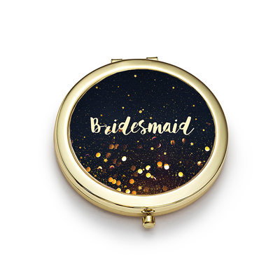Bridesmaid Gifts - Personalized Cute Special Eye-catching Stainless Steel Compact Mirror