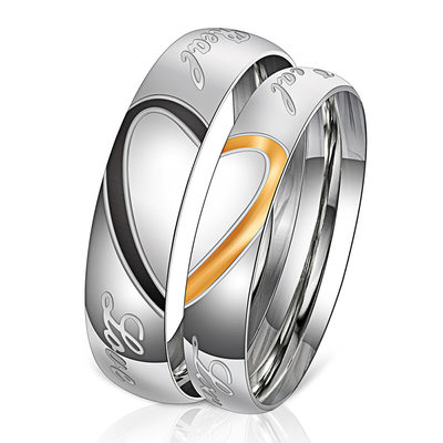 Unique Alloy Couples' Rings