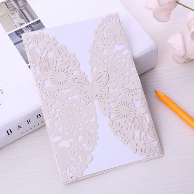 Fairytale Style/Butterfly Style Double Gate-Fold Invitation Cards