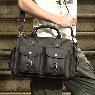 Groom Gifts - Vintage Leather Briefcase