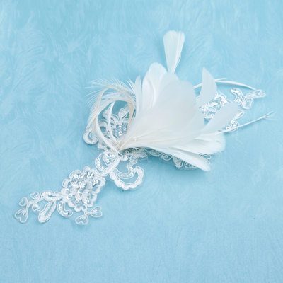 Beautiful Feather/Lace Flowers & Feathers