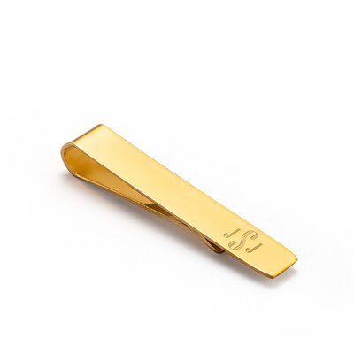 Groomsmen Gifts - Personalized Modern Mens Stainless Steel Tie Clip