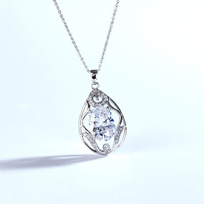 Ladies' Classic Alloy/Platinum Plated Crystal Necklaces For Mother