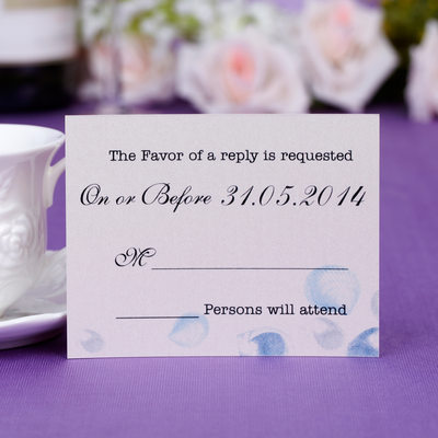 Personalized Floral Style Response Cards (Set of 50)
