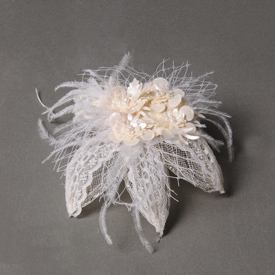 Elegant Feather/Tulle/Leatherette Combs & Barrettes