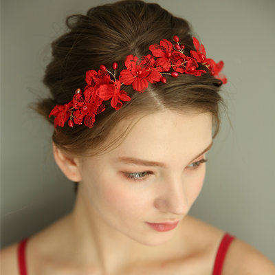 Ladies Gorgeous Silk Flower Headbands With Venetian Pearl/Crystal (Sold in single piece)